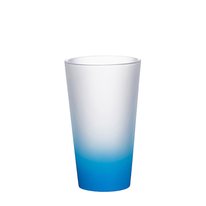 Picture of Light Blue Frosted Latte Glass Mug