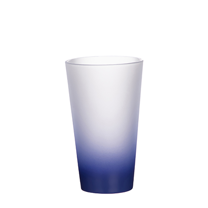 Picture of Dark Blue Frosted Latte Glass Mug