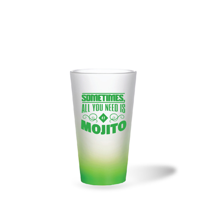 Picture of Mojito Green Frosted Latte Glass Mug