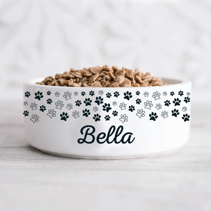 Picture of Black & White Paws Pet Bowl
