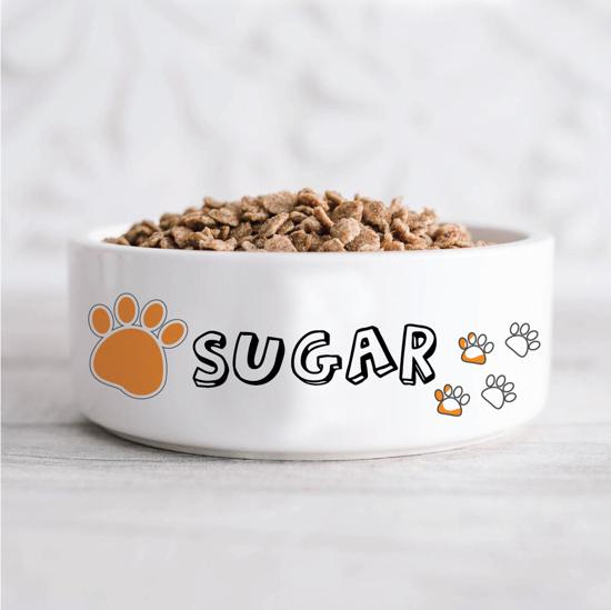 Picture of Orange Paws Pet Bowl