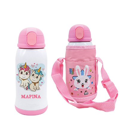 Picture of Unicorns Stainless Steel Water Bottle with Bag