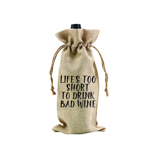 Picture of Life's Too Short to Drink Bad Wine.. Wine Bag
