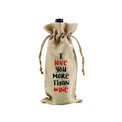Picture of I Love You More Than Wine.. Wine Bag