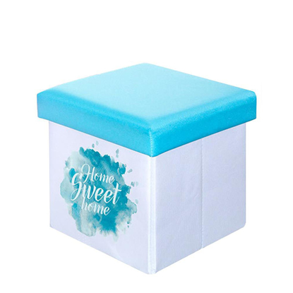 Picture of Blue Polyester Toy Box - Storage Stool