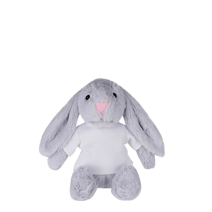 Picture of Grey Bunny Plush Toy with T-shirt
