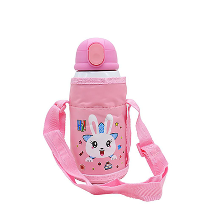 Picture of Pink Stainless Steel Water Bottle with Bag