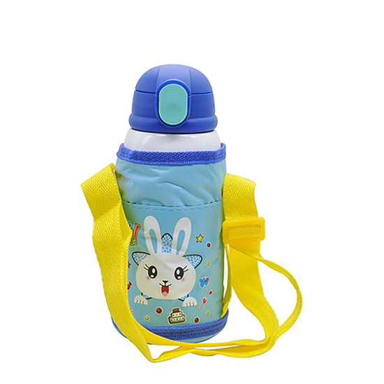 Picture of Blue Stainless Steel Water Bottle with Bag