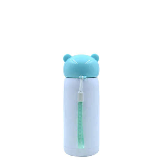Picture of Blue Stainless Steel Water Bottle with Ears