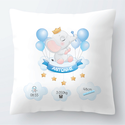Picture of Baby Boy Elephant Theme Pillow 2